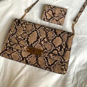 Snake skin purse and wallet